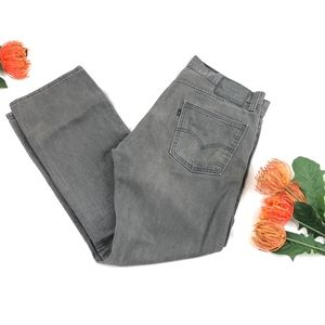 Levi's 513 Men's Gray Jeans Straight Leg 34 X 30